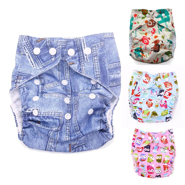 Baby Cloth Diapers Reusable Baby Nappies Waterproof Infant Ajustable Nappies Diapers Washable Prevent side leakage