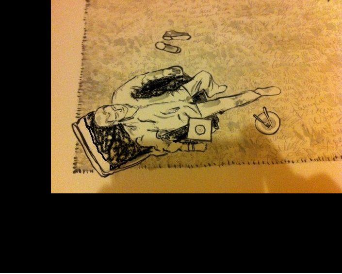 i Long Playing della mia giovinezza restano la migliore musica di sempre - Particolare, olio su cartone - Emanuele Remoto