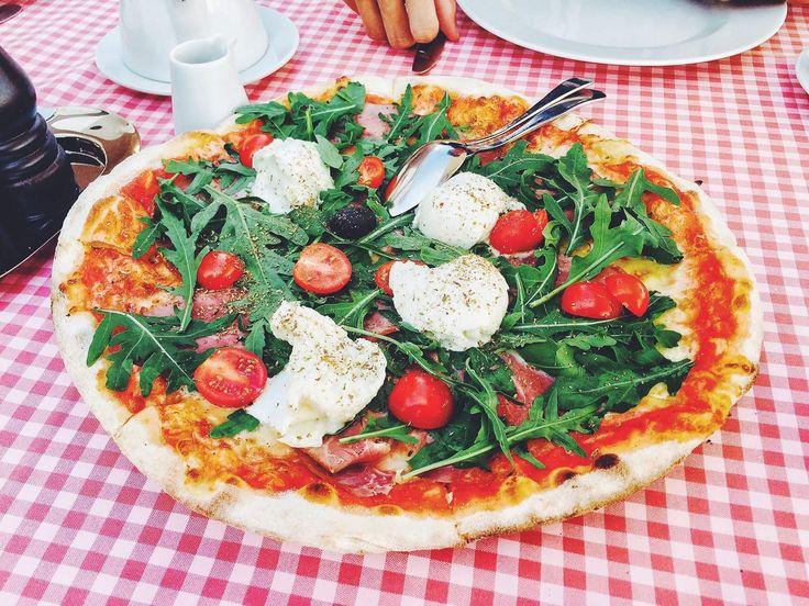 [I Ate] Pizza con prosciutto crudo pomodoro rucola e mozzarella http://ift.tt/2lP2Mfc #TimBeta