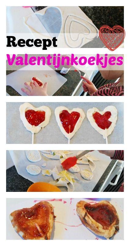 Recept hartvormige valentijnskoekjes van bladerdeeg en jam - Mamaliefde.nl