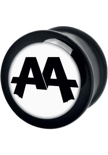 """Plug singolo """"White Logo"""" degli #AskingAlexandria."""