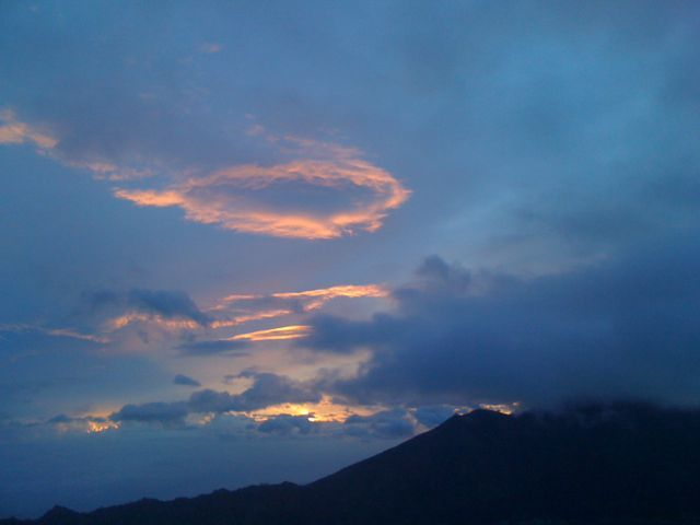 Crazy cloud formations at Mt Batur Bali sunrise. http://www.sharingbali.com/retreats/