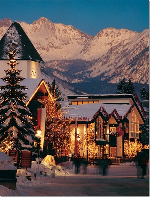 Vail, CO. as much as everyone wants a warm vacation, this would be just a great. it is so gorgeous.