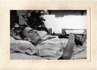 R.I.P Frida Kahlo  Photo by Lola Alvarez Bravo  July 13, 1954