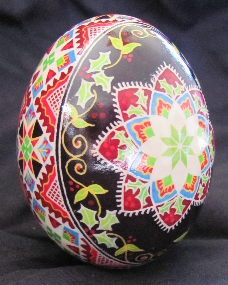 Duck Egg Pysanka by Katrina Lazarev, Pysanky. Just beautiful, as are all your eggs!