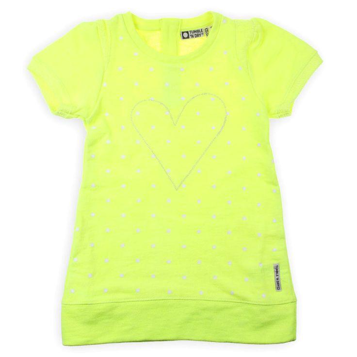 Yellow Neon Geel Jurkje! Super Cute van Tumble N Dry www.kienk.nl #babyjurk #kidsfashion