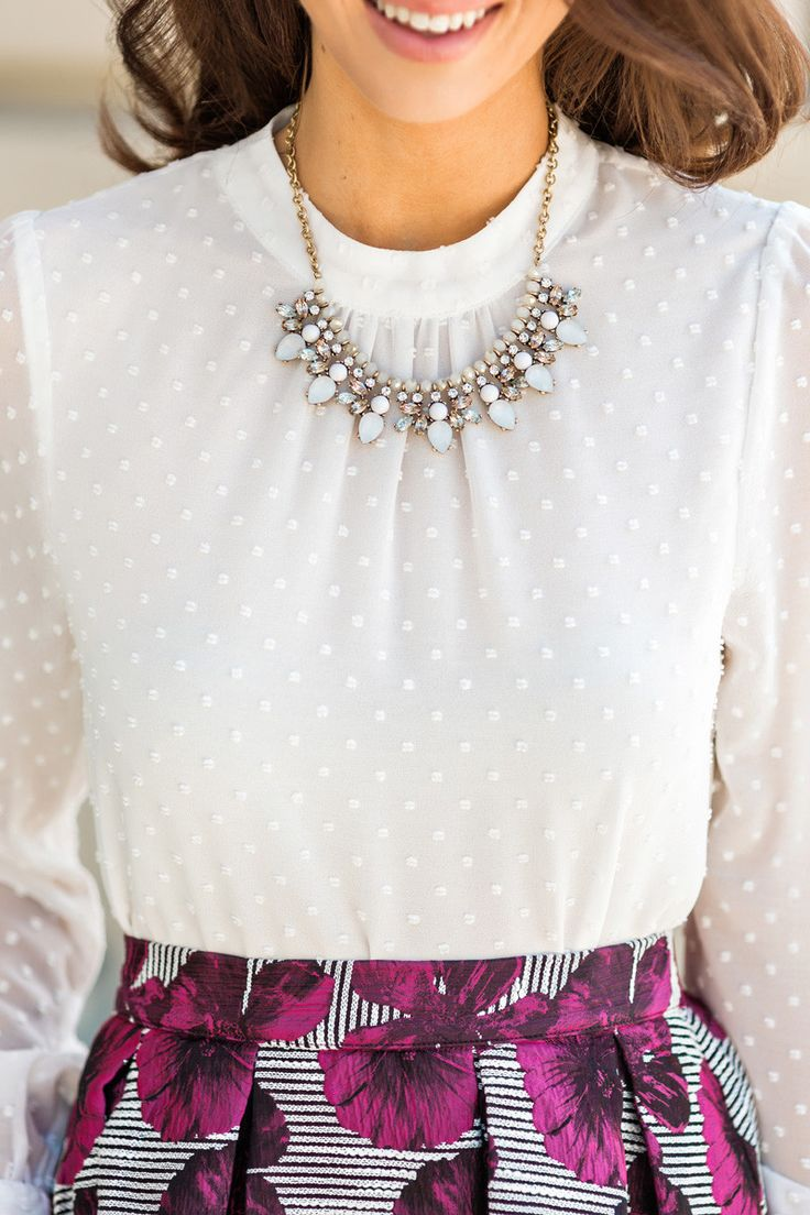 Crystal Statement Necklaces, Women's Statement Jewelry, How to accessorize, Outfit Inspiration