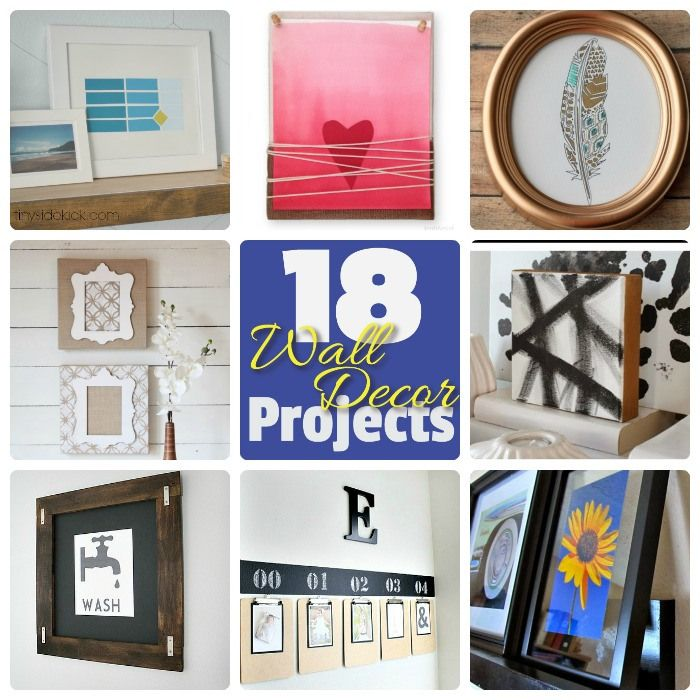 Great Ideas — 18 DIY Wall Decor Projects! - Tatertots and Jello