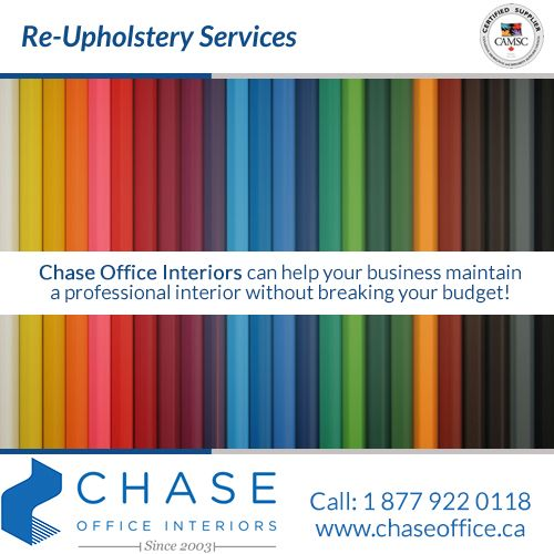 Are you considering a fresh new look for the workstations and wall systems in your office? Contact Chase Office Interiors - 1-877-922-0118