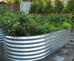 Corrugated Metal Garden Beds