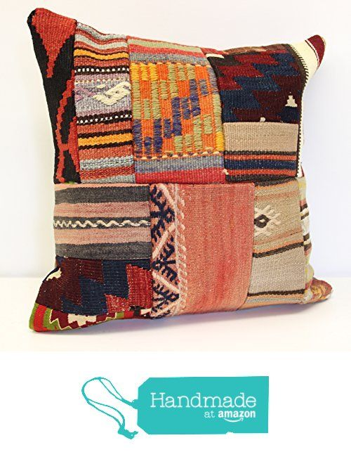 Patchwork kelim pillow cover 18x18 inch (45x45 cm) Handmade Kilim pillow cover Turkish pillow Accent Hand woven Cushion Cover Throw pillow from Kilimwarehouse https://www.amazon.com/dp/B072FM2K6C/ref=hnd_sw_r_pi_dp_-.zizb8V5ARRK #handmadeatamazon