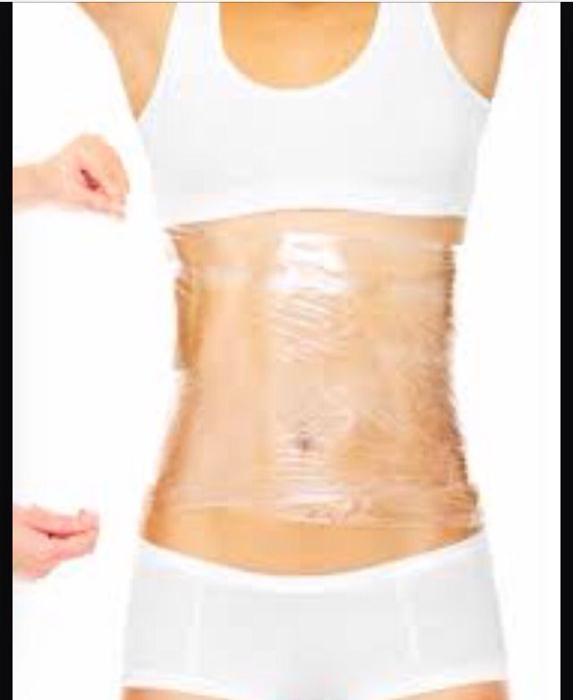 Dyi wrap! Spread a layer of vicks vapor rub on your tummy. Mix 1/4cup coffee grounds with about 2tablespoon coconut oil into a paste rub on. Wrap about 4 layers of saran wrap on and sit for 30min then shower and see results!