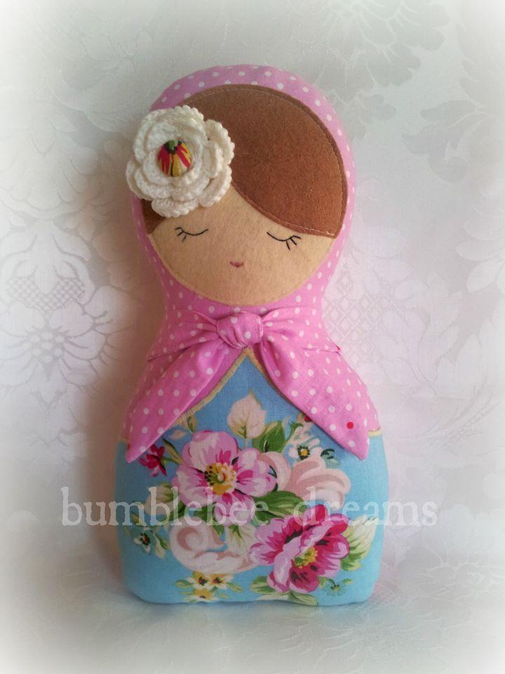 Handmade babushka doll  https://www.facebook.com/bumblebeedreams