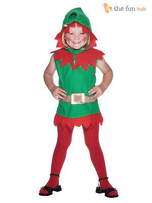 Kids #toddler elf costume girls #santas #little helper christmas fancy dress outi, View more on the LINK: http://www.zeppy.io/product/gb/2/182353899724/