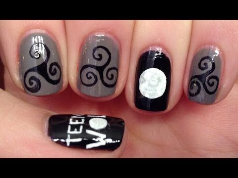 Teen Wolf Nail Art Tutorial (REQUEST)