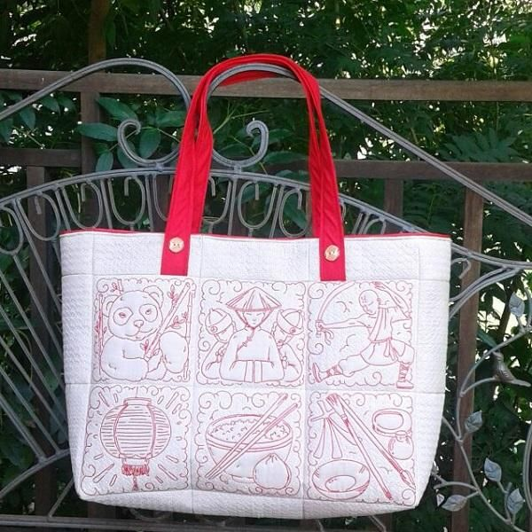 Chinese themed tote
