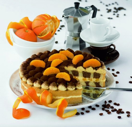Espresso-narandža torta