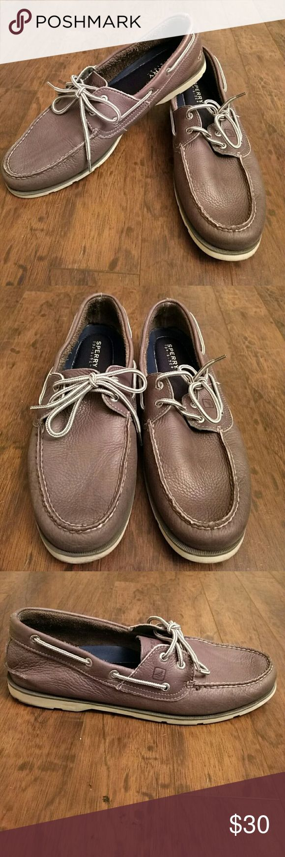 Sperry Top - Sider Grey Leather Loafers Shoes are in very good condition. They have only been worn a few times. Most wear is at the bottom of shoes, which are as pictured. Please see photos for flaws. Guaranteed authentic. Keywords: Gray  Bundle and save!   Please remember when sending offers that Poshmark takes 20% of sales. Sperry Top-Sider Shoes Loafers & Slip-Ons