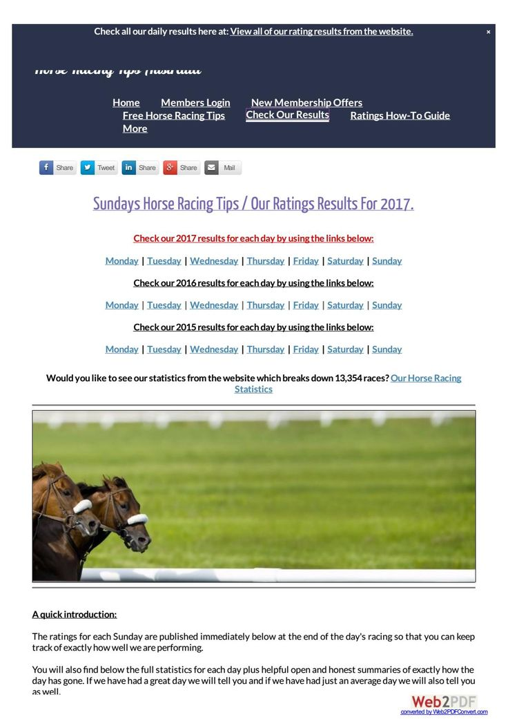 Sundays January 22nd Horse Racing Tips Today's Results