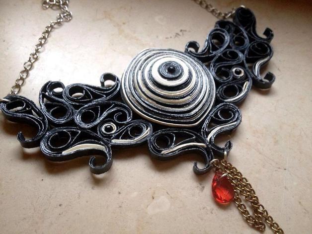 Collane con pendenti - Collana di carta - un prodotto unico di viktorrya su DaWanda