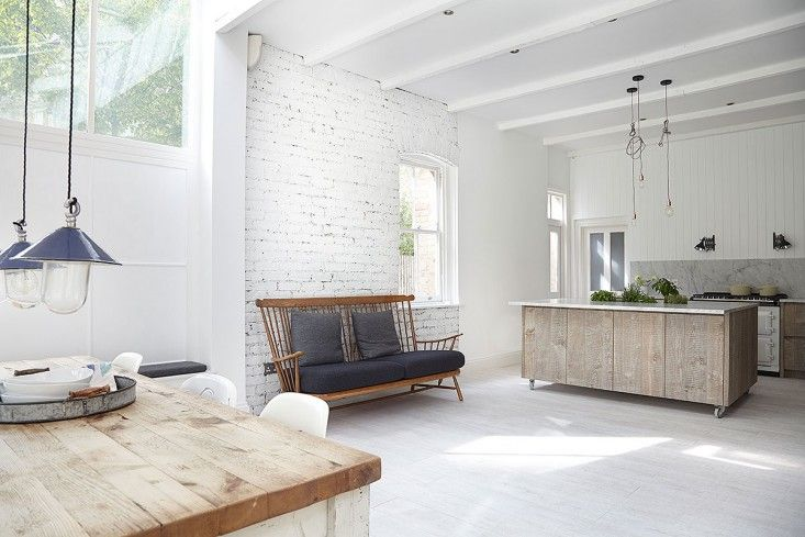 London Victorian, White Expansive Open Kitchen   Remodelista
