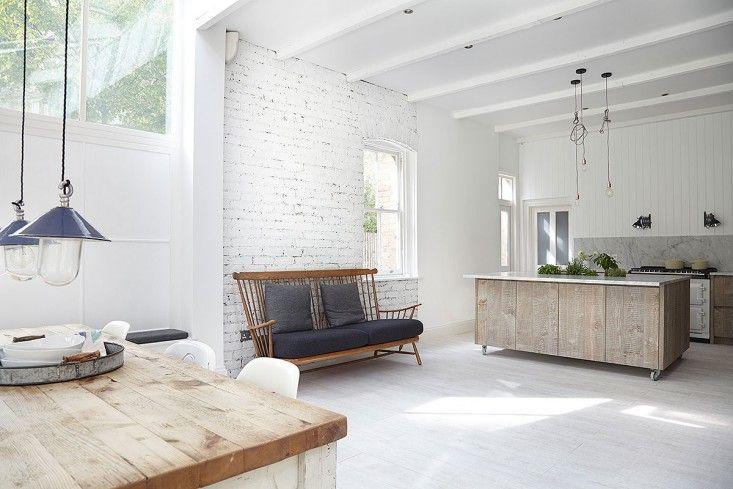 London Victorian, White Expansive Open Kitchen | Remodelista