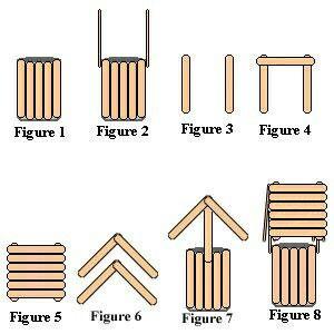 más y más manualidades: Crea un pozo decorativo usando palitos de madera