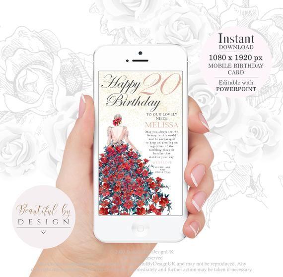 electronic birthday ecard glamourous dress digital card