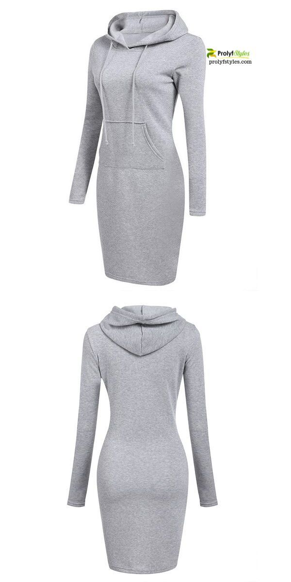 This hoodie dress can be worn alone, or easily layer for a unique look that is j…