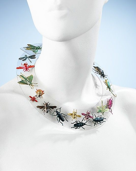 Necklace Elsa Schiaparelli  (Italian, 1890–1973) Maker: Jean Clemént (French, 1900–1949) Date: fall 1938 Culture: French Medium: synthetic, metal