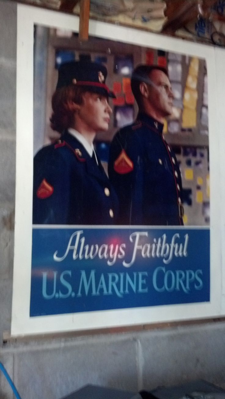 """Antique USMC Metal Recruiting Poster """"Always Faithful"""" in BeckyWes' Garage Sale in Luck , WI for $100.00. Antique 40"""" x 30"""" USMC """"Always Faithful"""" Double-Sided Metal Recruiting Poster. A few minor scratches but a must for any Military Collection. I have a total of 5 available, see my other postings."""