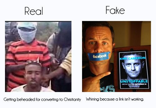 "Real vs. Fake Christian Persecution: how you can spot the difference. We've been programmed to label any negative experience related to our faith in the category of ""persecution"". We develop a persecution complex which causes us to see anti-Christian discrimination."