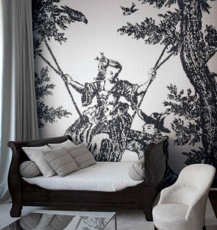 JARDIN GRIS is the latest in a series of Bisazza decoration mosaics created by celebrated designer, Patricia Urquiola. JARDIN GRIS is a modern twist on a traditional French textile design style.