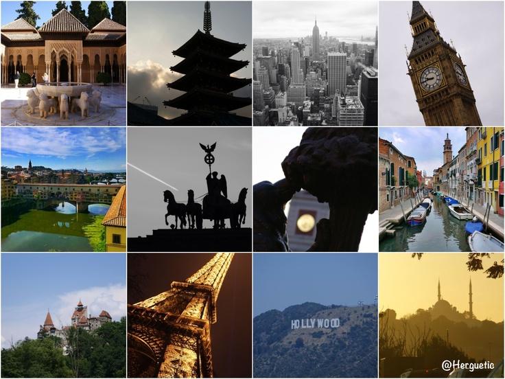 Granada, Tokio, Nueva York, Londres, Florencia, Berlín, Madrid, Venecia, Bran (Transilvania), París, Los Ángeles y Estambul. Algunos sitios que he tenido la suerte de pisar y fotografiar.