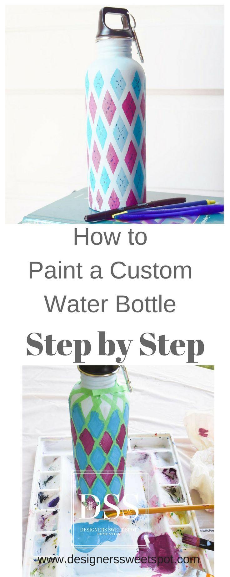 Virtual craft club diy vinyl wood slice sugar bee - Pretty Custom Water Bottle Designers Sweet Spot Www Designerssweetspot Com