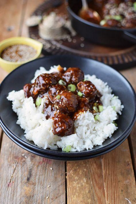 Sesam Teriyaki Fleischbaellchen - Sesame Teriyaki Meatballs | Das Knusperstübchen