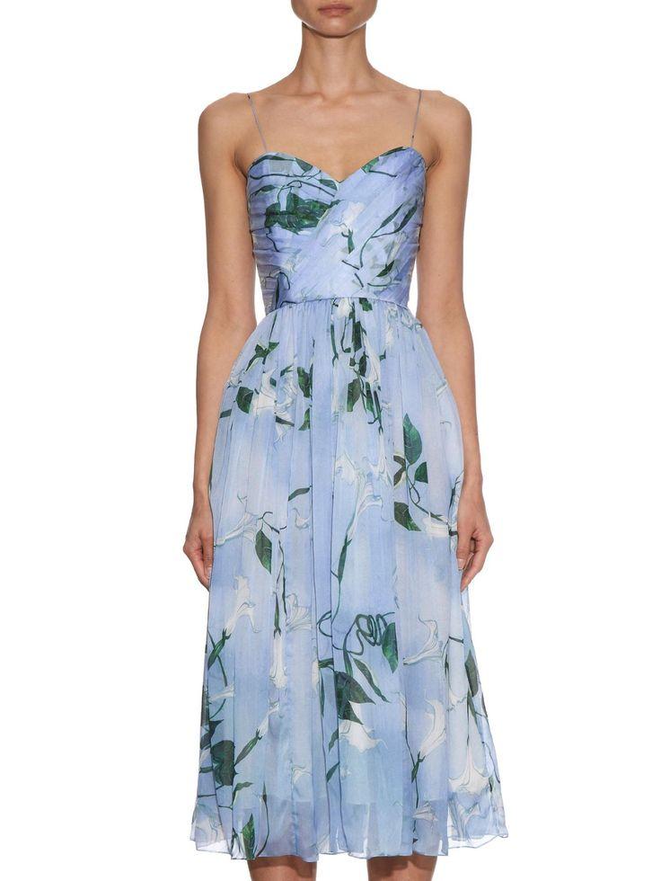 Joice floral-print silk dress | Isolda | MATCHESFASHION.COM AU