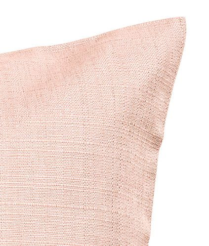 Dusky pink. Cushion cover in cotton slub-weave fabric. Concealed zip.