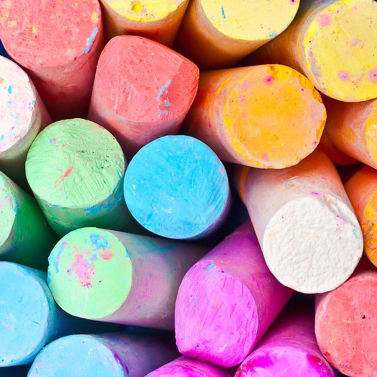 colorful sticks of chalk