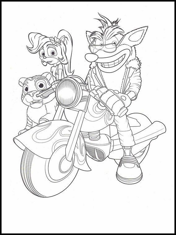 Crash Bandicoot Coloring Pages Best Coloring Pages For Kids Crash Bandicoot Coloring Pages Bandicoot