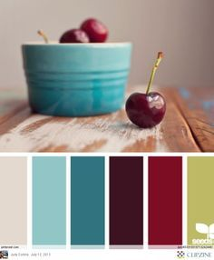 Drk red & drk teal...wanna try n living rm.