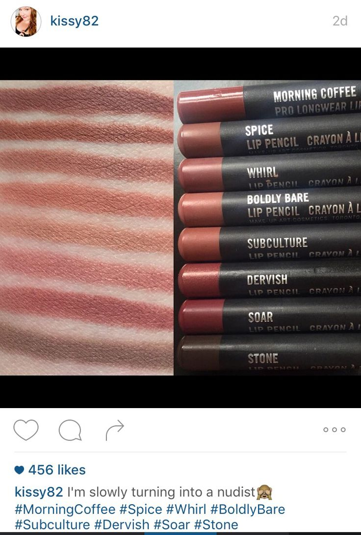 MAC nude lip pencils @kissy82 Instagram                                                                                                                                                     More
