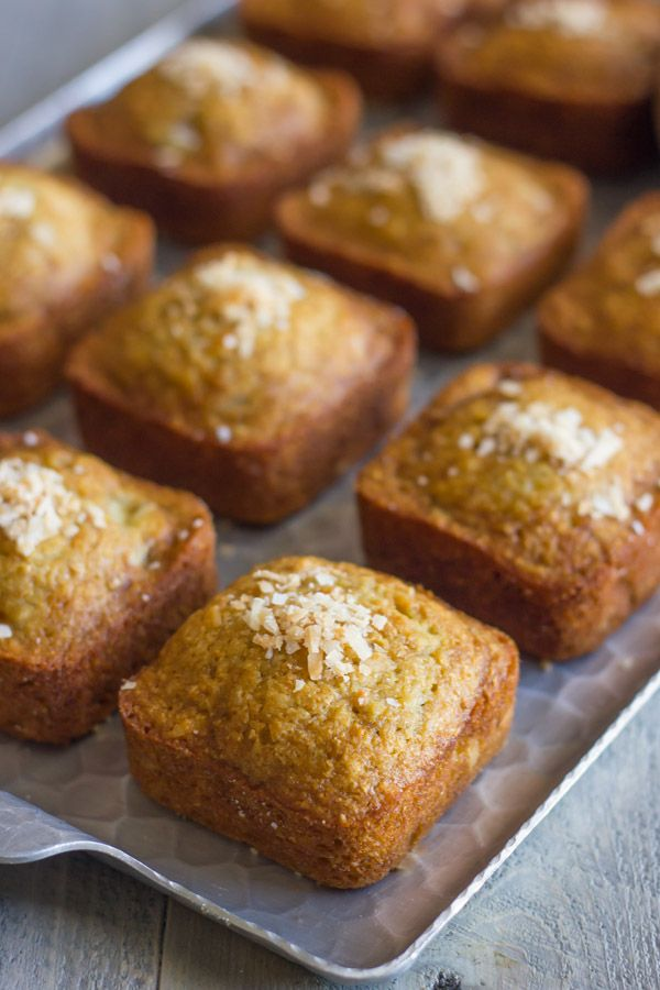 Toasted Coconut Whole Wheat Banana Bread Muffins Recipe