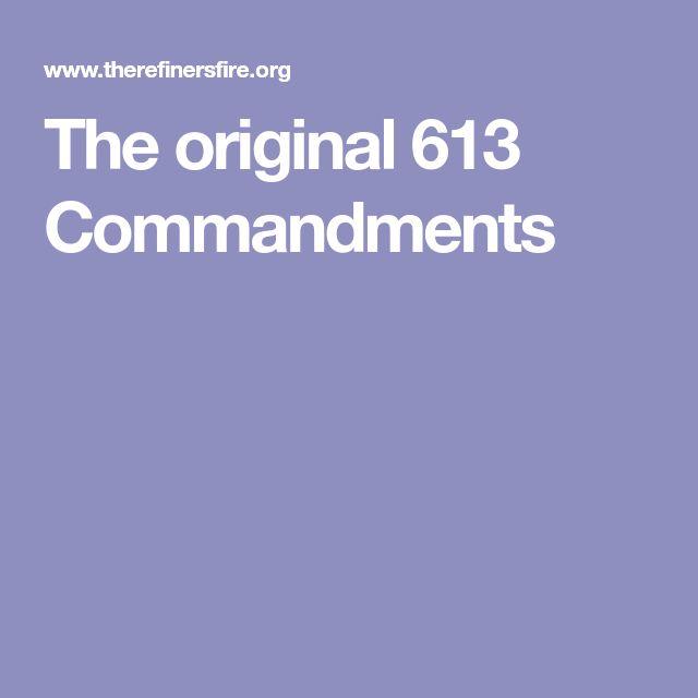 The original 613 Commandments