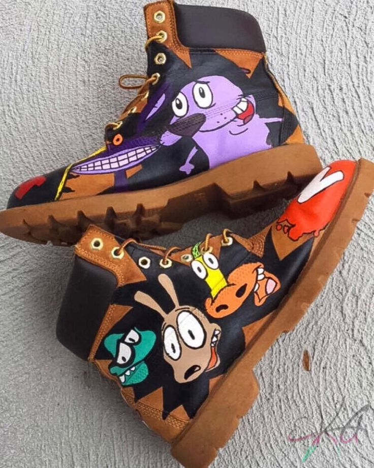 90's custom @timberland boots part 2. Like if you remember these characters         #art #eka #brand #anime #cartoon #accra #kenta #tribal #ghanaian #streetstyle #newjersey #ghana #africanwear #apparel #hats #sneakers #customclothing #business #custom