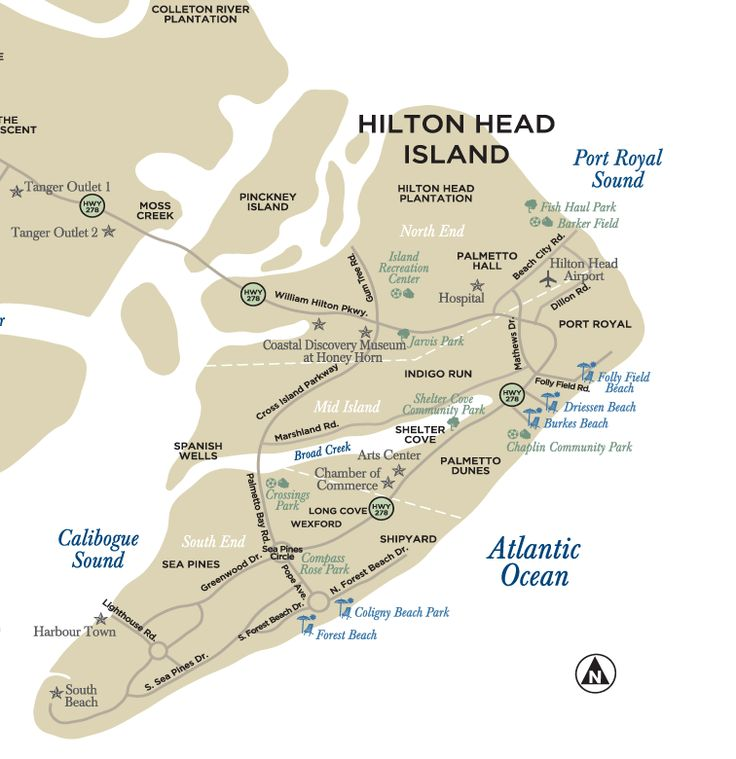 hilton head beach map. I really want to go to an island ...