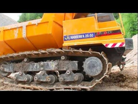RC CONSTRUCTION MACHINE FAIL! HEAVY RC ACCIDENT AT THE CONSTRUCTION SITE! BIG TRACK DUMPER ACTON - YouTube