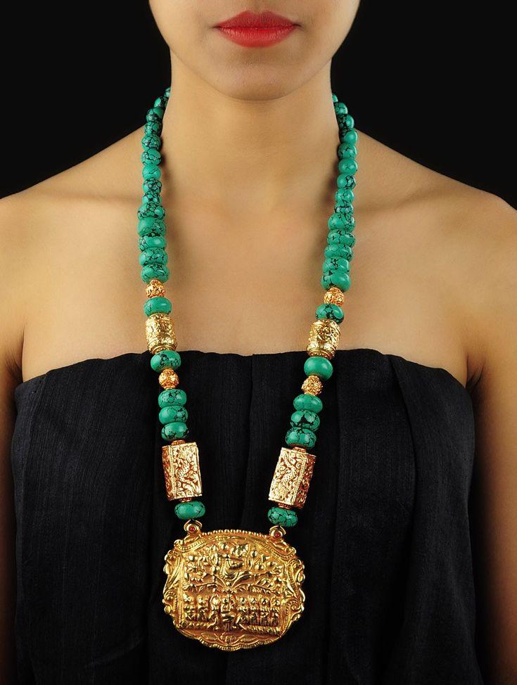 Lord Krishna - Feroza Necklace - Buy Jewelry > Fashion Jewelry > Lord Krishna - Feroza Necklace Online at Jaypore.com
