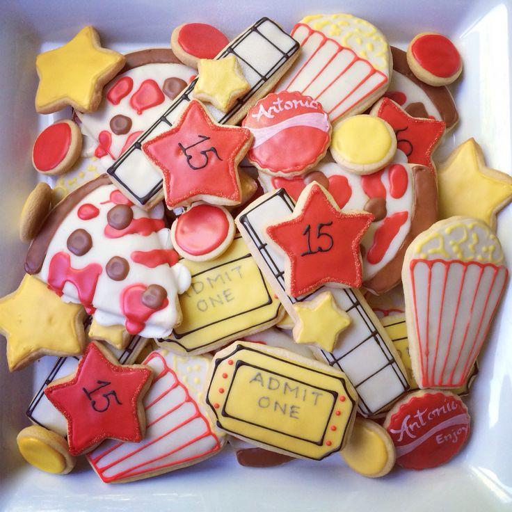 Movie party cookies