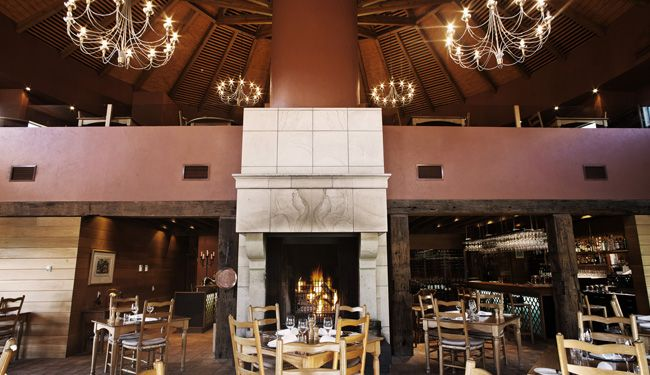 Craggy Range - Terrôir Restaurant.  Excellent dining for lunch or dinner - special food and atmosphere.  Most amazing castle-sized open fires, not to mention stunning views.  The best of Hawkes Bay.